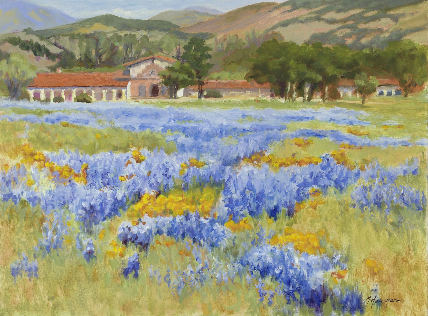 "Mission San Antonio, 18""x24"", oil on canvas"