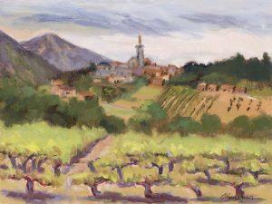 View to Villars, 9x12