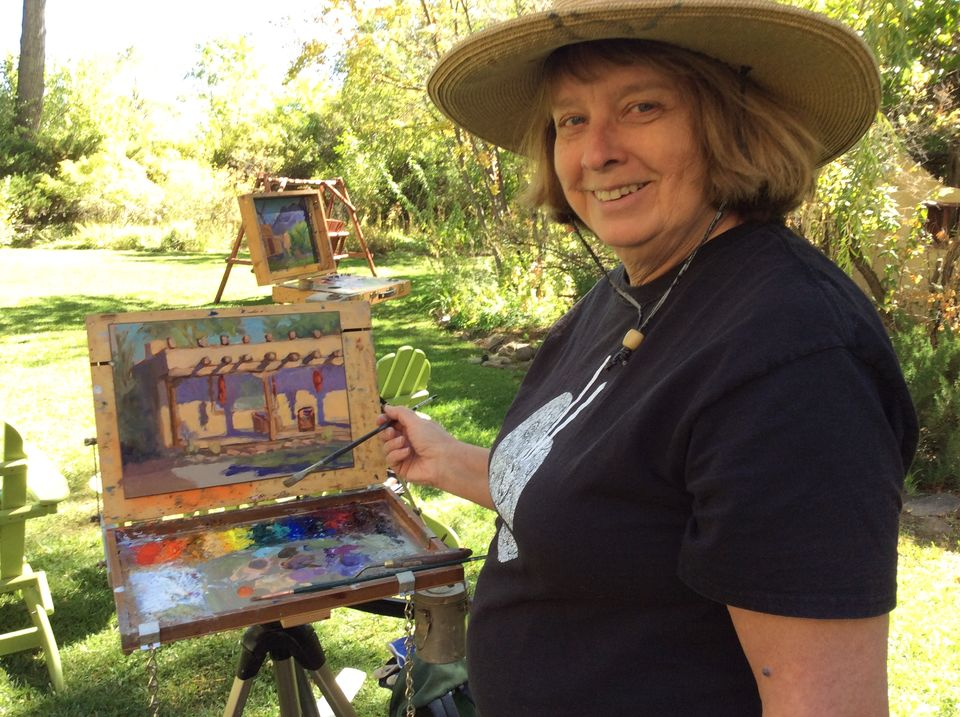 Painting at Hacienda del Sol, Taos