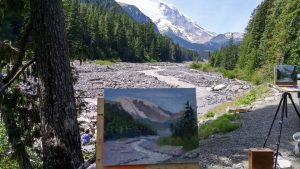 painting along the White River