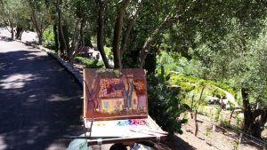 painting in progress-La rusticana Cottage