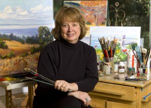 Michele in her Soquel Studio