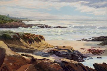 "Grand Coast, 36""x48"", oil on canvas"