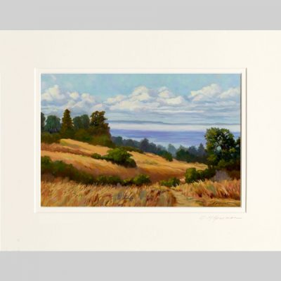 Above the Bay giclée , white inner mat