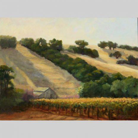Vineyard Afternoon, origianl 18x24 oil painting