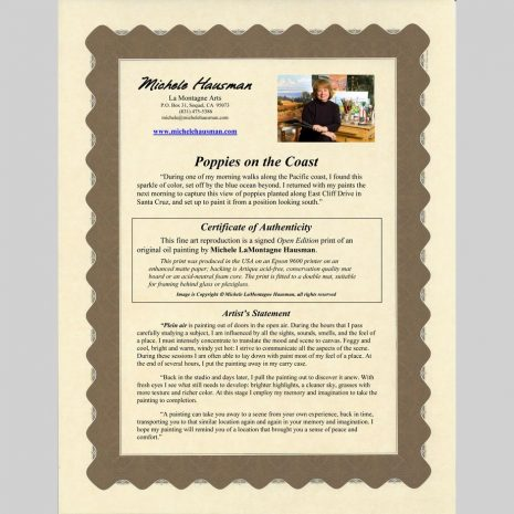 Open Edition - Certificate of Authenticity