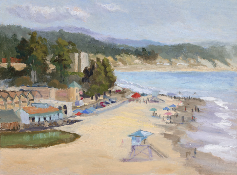 SOLD. Capitola Summer, 12x16, oil on canvas.