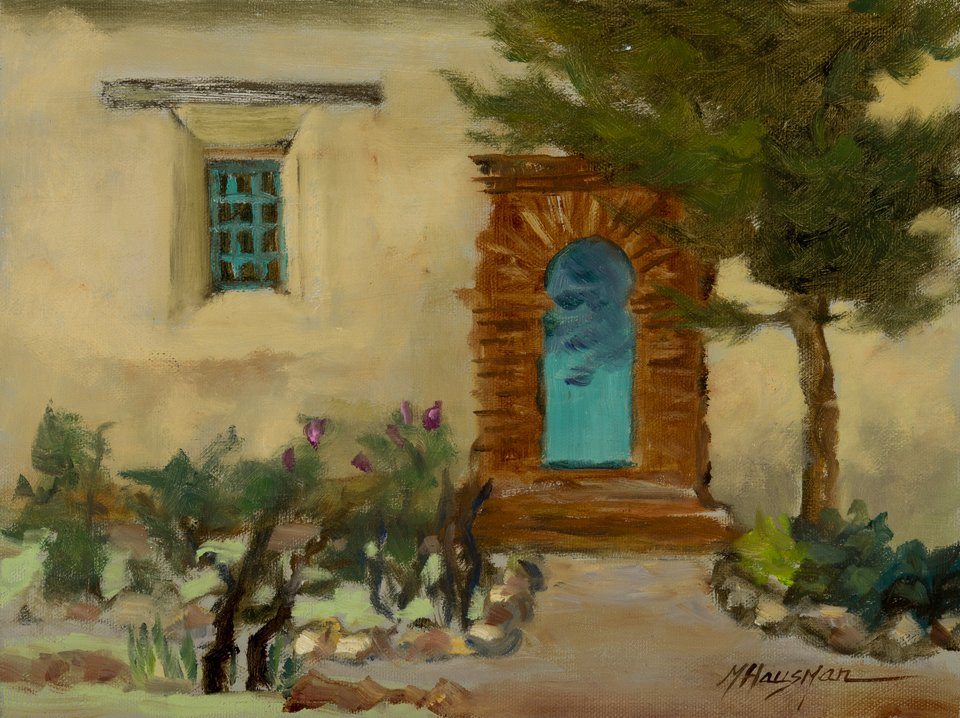 Mission Door 9x12 sold & California Missions - Michele Hausman