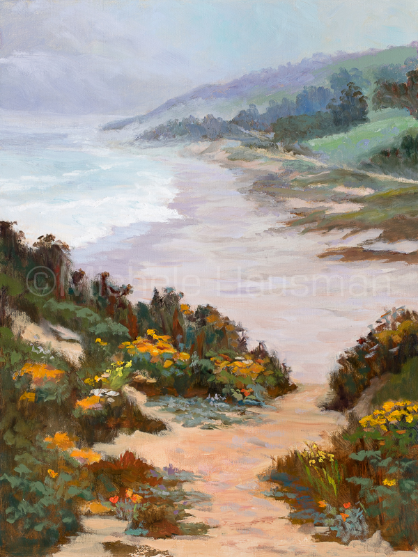 "Wildflower Summer, 24""x18"" at Pescadero Beach"
