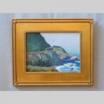 Big Sur Morning, 9x12, framed