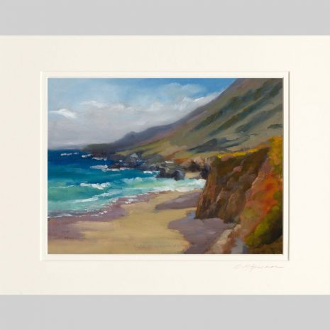 Morning Shadows ~ Big Sur, white inner mat