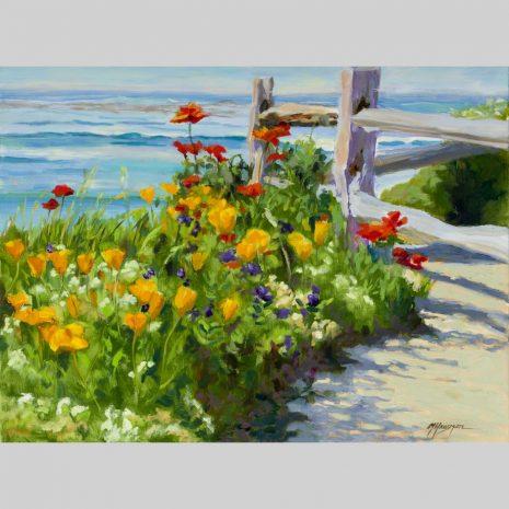 Wildflower Garden, 18x24 original oil painting