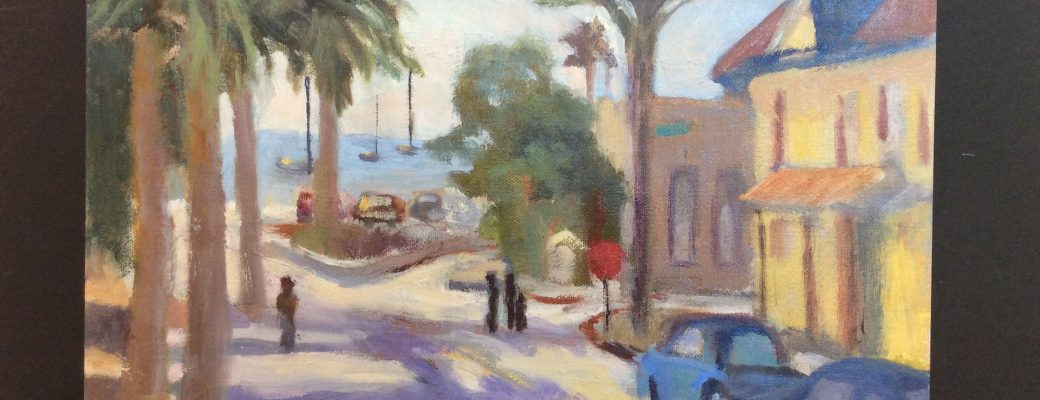 Capitola painting in progress