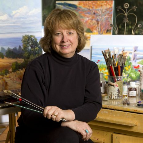 Michele in her Soquel Studio