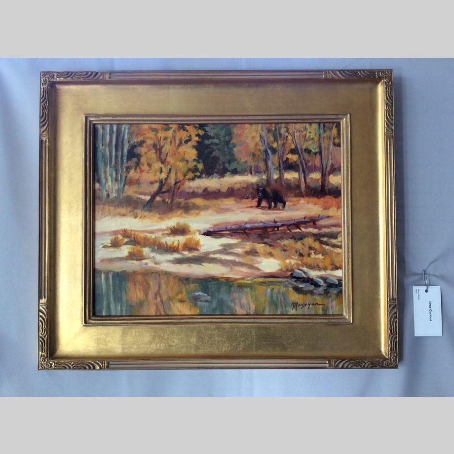 Ursa Curious, 14x18, framed