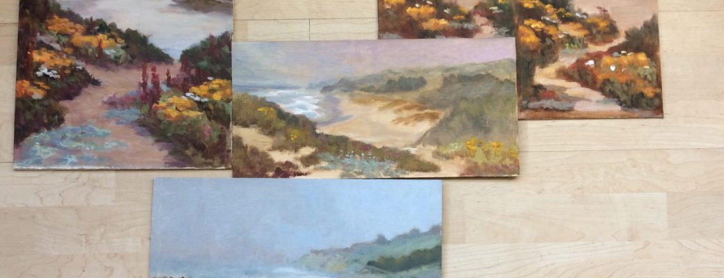 Quick Studies of Wildflowers, Pescadero Beach