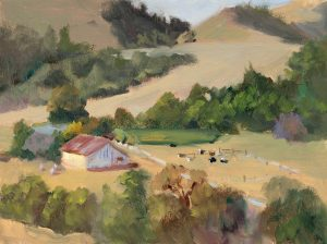 La Honda Ranch, oil on canvas panel, 9x12