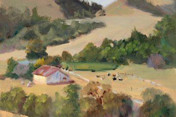 La Honda Ranch, oil on canvas panel, 9x12
