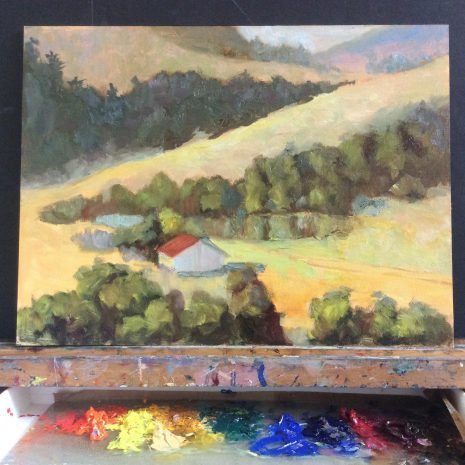 Class painting in progress.