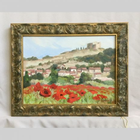 French Poppies, 12x16, framed