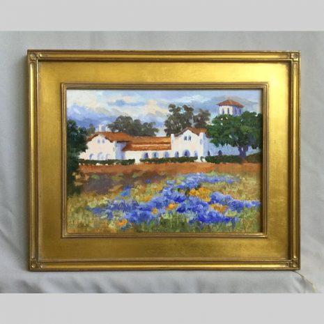 Hacienda Lupine, 12x16, framed