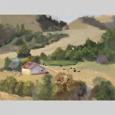 La Honda Ranch, 9x12, oil