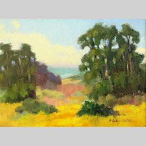 Mustard Fields, 9x12, oil