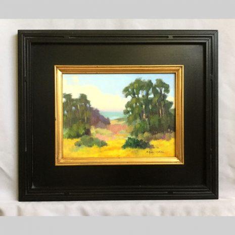 Mustard Fields, 9x12, framed