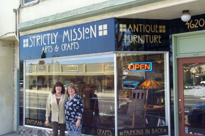 Sharon and Michele outside Strictly Mission in Soquel, CA, USA