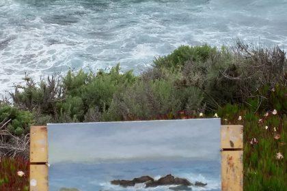painting in progress - Carmel CA 2018