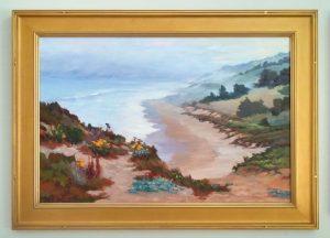 Coastal Muse, 24x36 plus frame size