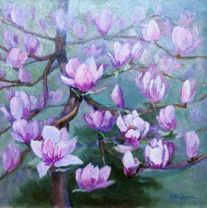 Magnolia Spring, 18x18