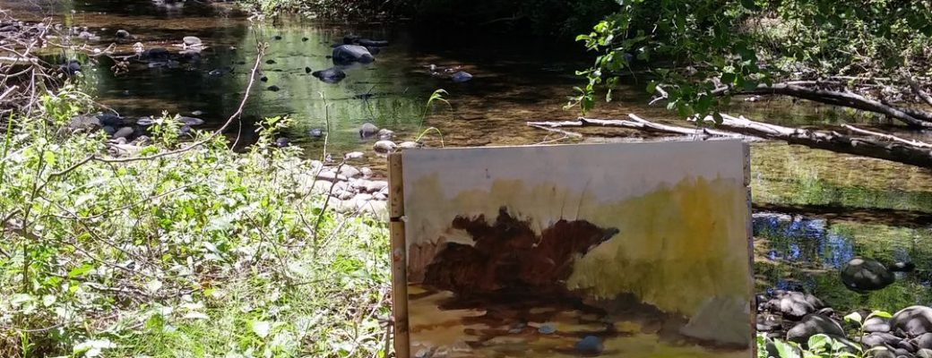 Creek Painting in Progress