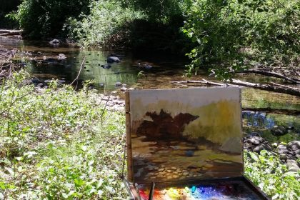 Creek Painting in Progress