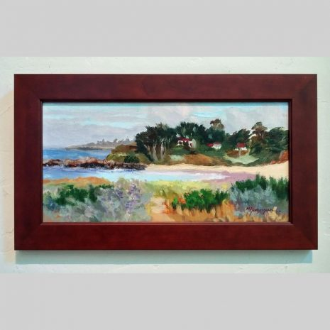 Beach Crescent 8x16 cherry frame