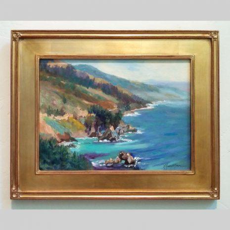 Big Sur Big View 12x16 gold frame