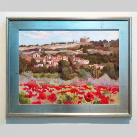 Provence Poppies 18×24 silver frame
