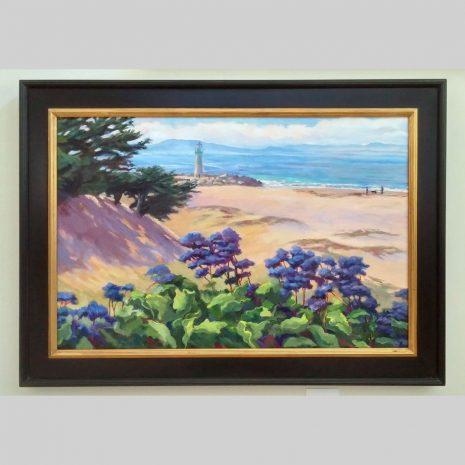 Sea Lavender 24x36 black frame with gold liner
