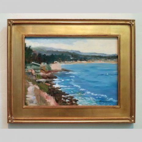 Surfin' Spot, 12x16, gold frame