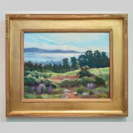 View from the Hill 14x18 gold frame