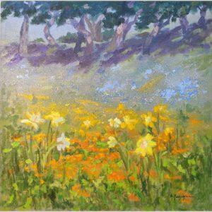 Hillside Wildflowers 18x18