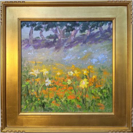 Hillside Wildflowers 18x18 framed