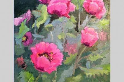 Poppy Patch 18x14