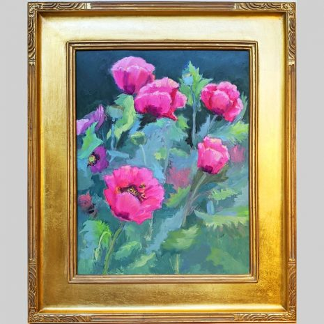 Poppy Patch 18x14 gold frame