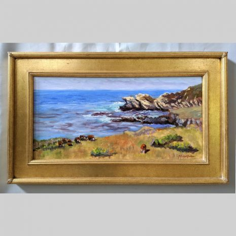 Coastal Grazing 12x24 gold frame
