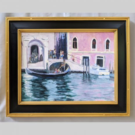 Gondola Ride 18x24 black and gold frame
