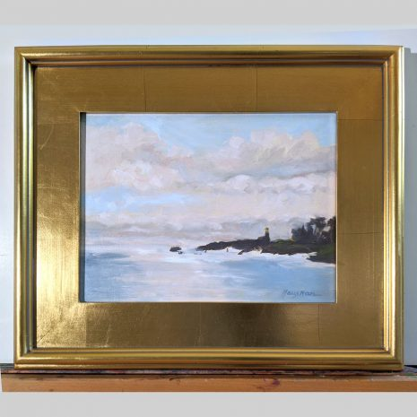Harbor Guardian 9x12 gold frame