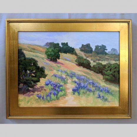 Lupine Field 18x24 gold frame