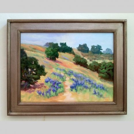 Lupine Field 18x24 antique silver frame