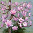 Magnolia Bloom 18x18